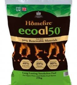 homefire ecoal50 smokeless coal 25kg bag
