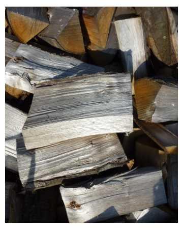 firewood logs closeup