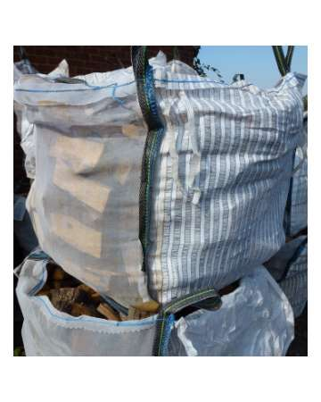 firewood logs in load bag