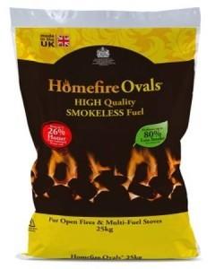 homefire ovals smokeless coal 25kg bag