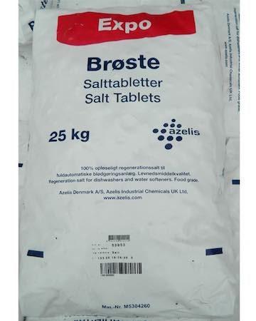 Salt tablets in a 25kg bag