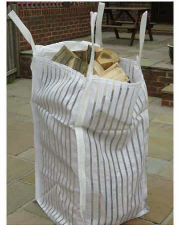 kiln dried seasoned firewood logs barrow bag side