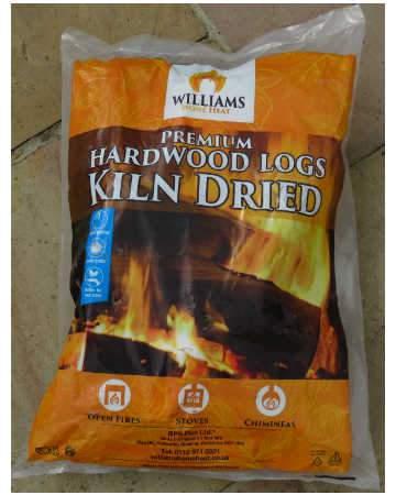 kiln dried hardwood firewood logs grab bag